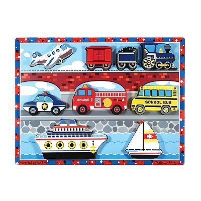 Melissa and Doug Vehicles Chunky Puzzle