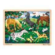 Melissa & Doug 48 pc Frolicking Horses Jigsaw Puzzle