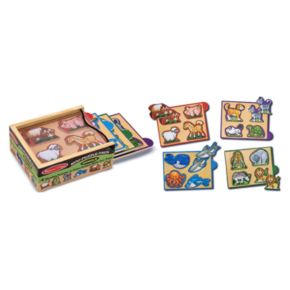 Melissa and Doug 4-pk. Animals Mini-Puzzle-Pack