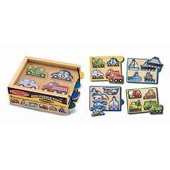 Melissa & Doug 4-pk. Vehicles Mini-Puzzle-Pack
