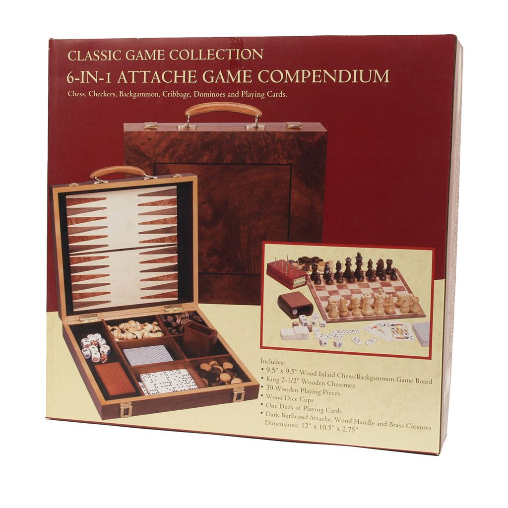 Six-in-One Attache Game Compendium by University Games
