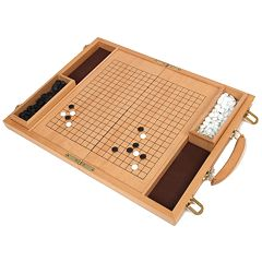 Deluxe 15-in. Wood Go Game Set by University Games by