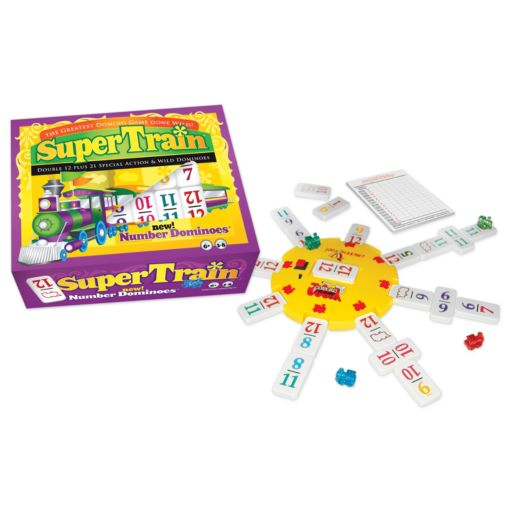 Super Train Dominoes Game by University Games