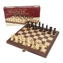 Travel Magnetic Walnut Chess Set by University Games