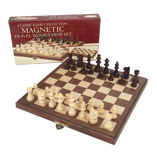 Travel Magnetic Walnut Chess Set by University Games