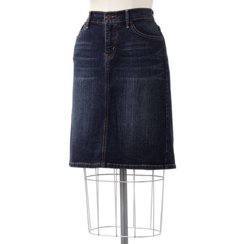 levi s 512 perfectly slimming denim pencil skirt