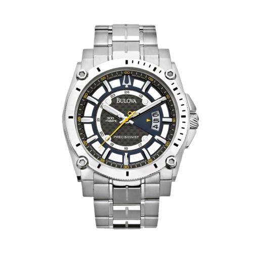 Bulova Precisionist Stainless Steel Watch - Men