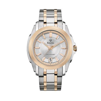 Bulova Precisionist Stainless Steel Two-Tone Watch - Men