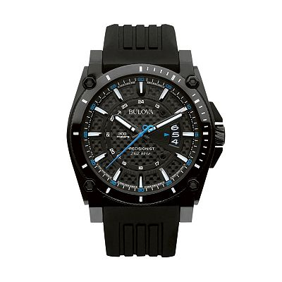 Bulova Precisionist Stainless Steel Black Ion Watch - Men