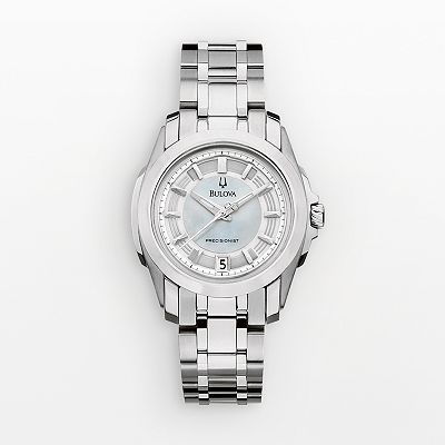 Bulova Precisionist Stainless Steel Mother-of-Pearl Watch - Women