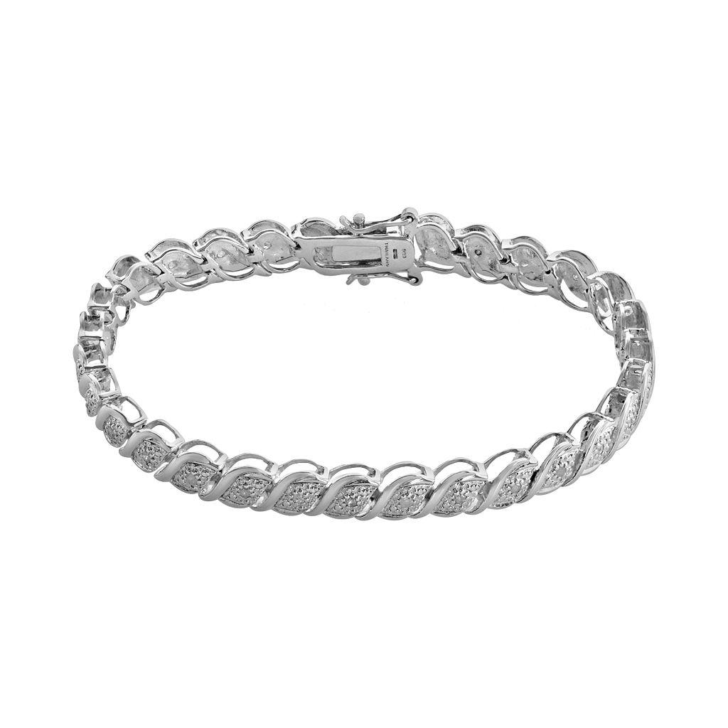 Sterling Silver 1/2-ct. T.W. Diamond Bracelet