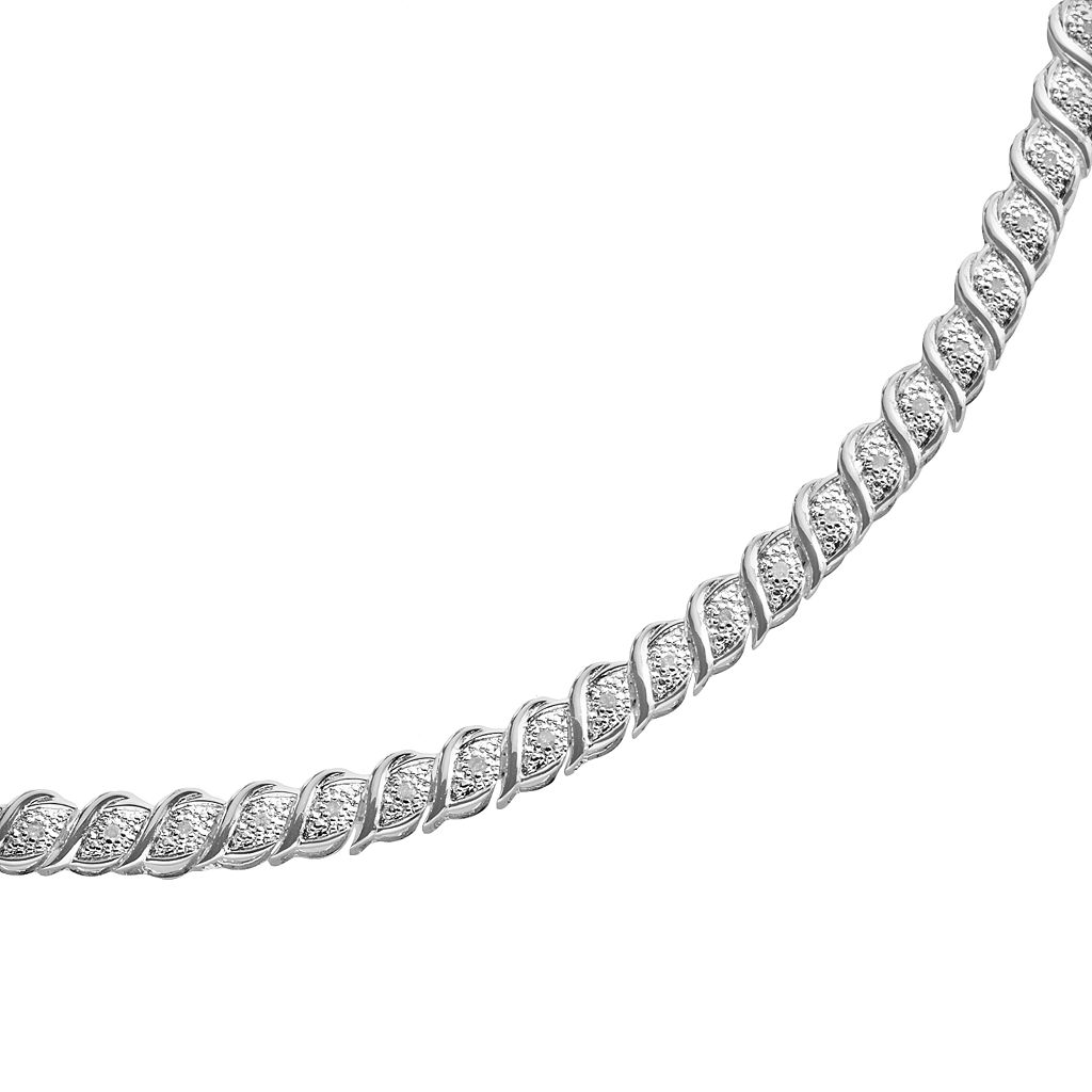 Sterling Silver 1/2-ct. T.W. Diamond Bracelet