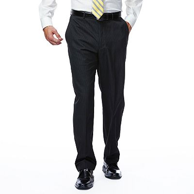 Haggar Slim-Fit Shadow Striped Flat-Front Suit Pants
