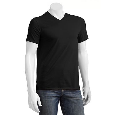 Apt. 9 Solid Deluxe Ribbed Layering V-Neck Tee