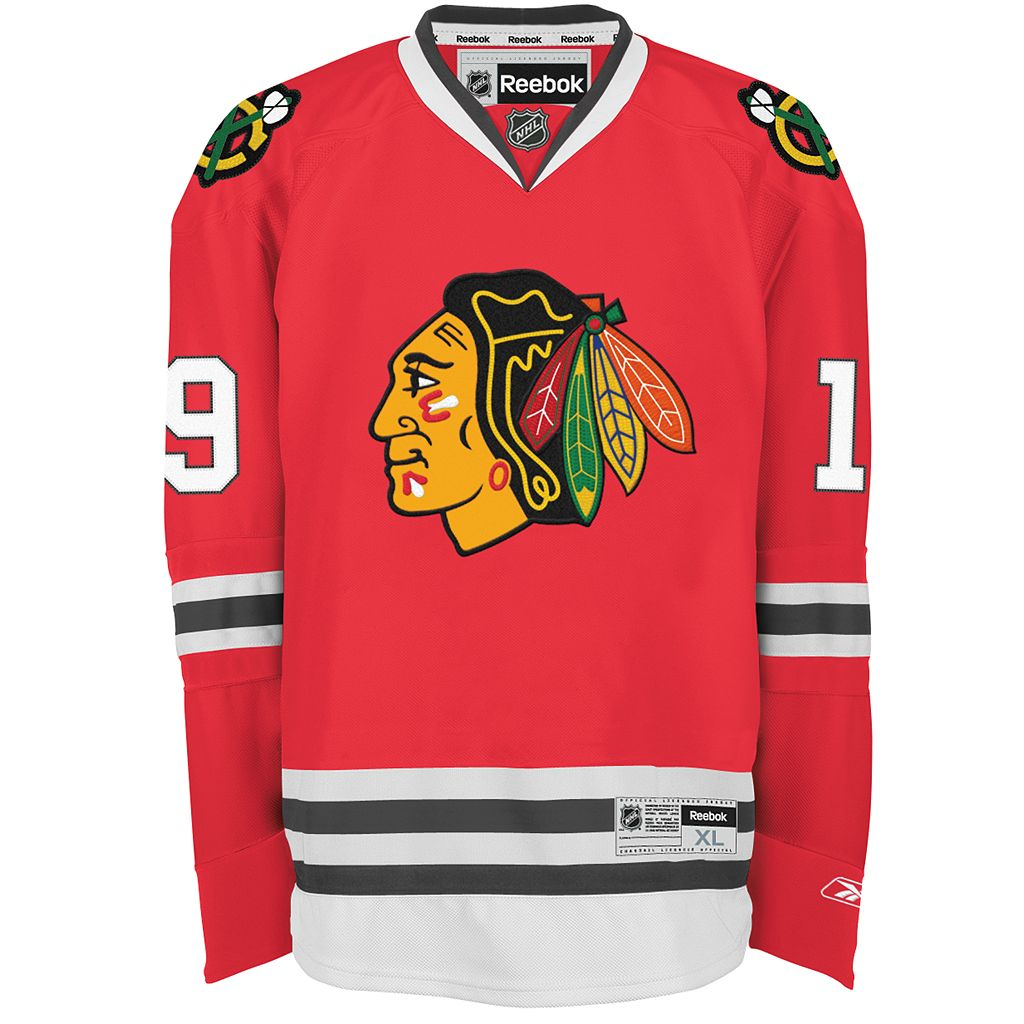 Reebok EDGE Premier Chicago Blackhawks Jonathan Toews Jersey