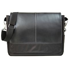 Royce Leather Nylon Laptop Messenger Bag