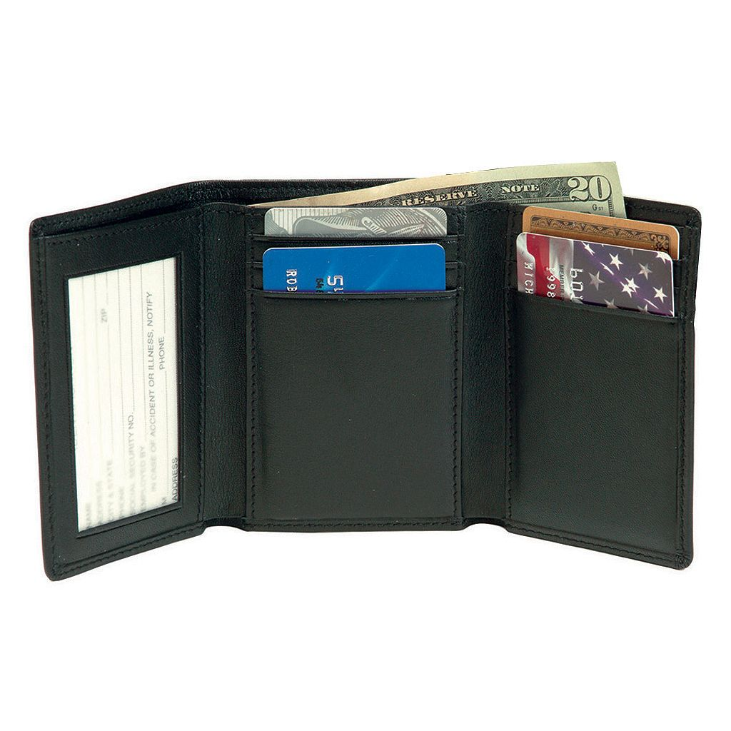 Royce Leather Trifold with Double ID Window Wallet