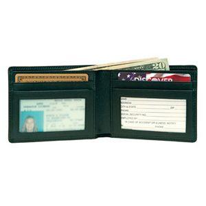 Royce Leather Flat Fold Wallet