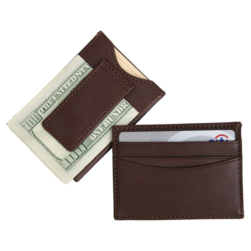 Royce Leather Magnetic Money Clip Wallet