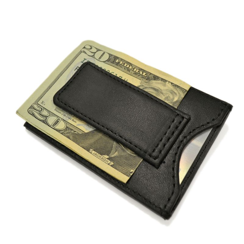 Royce Leather Magnetic Money Clip Wallet, Adult Unisex, Black