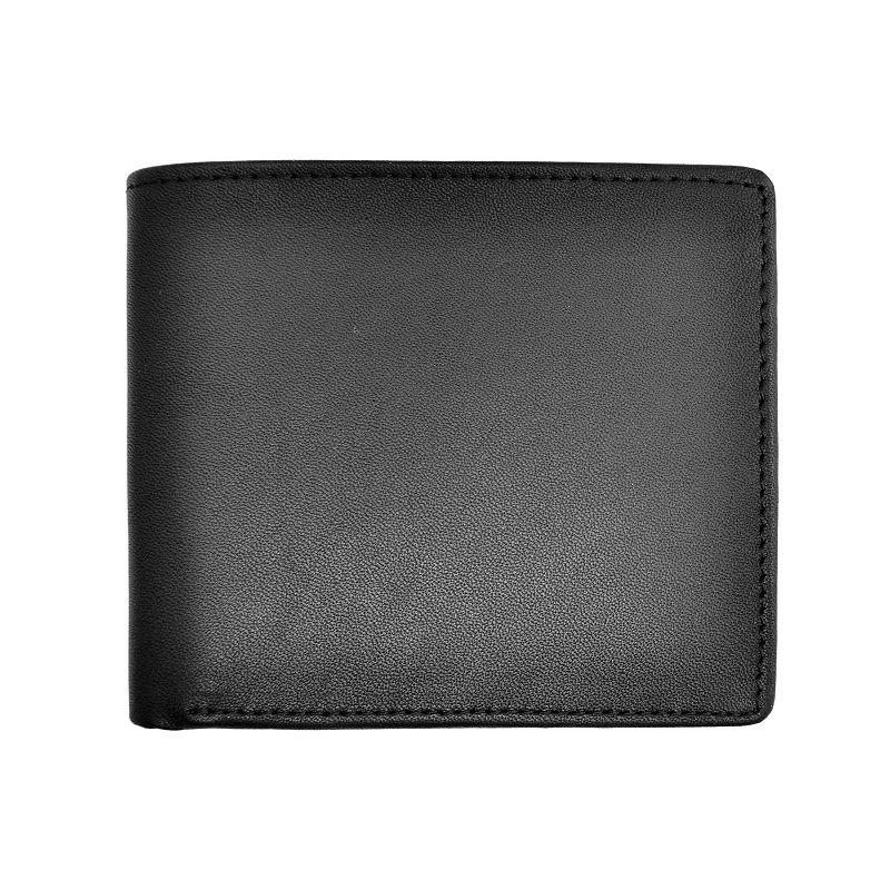 Royce Leather Double Money Clip Wallet, Men's, Black