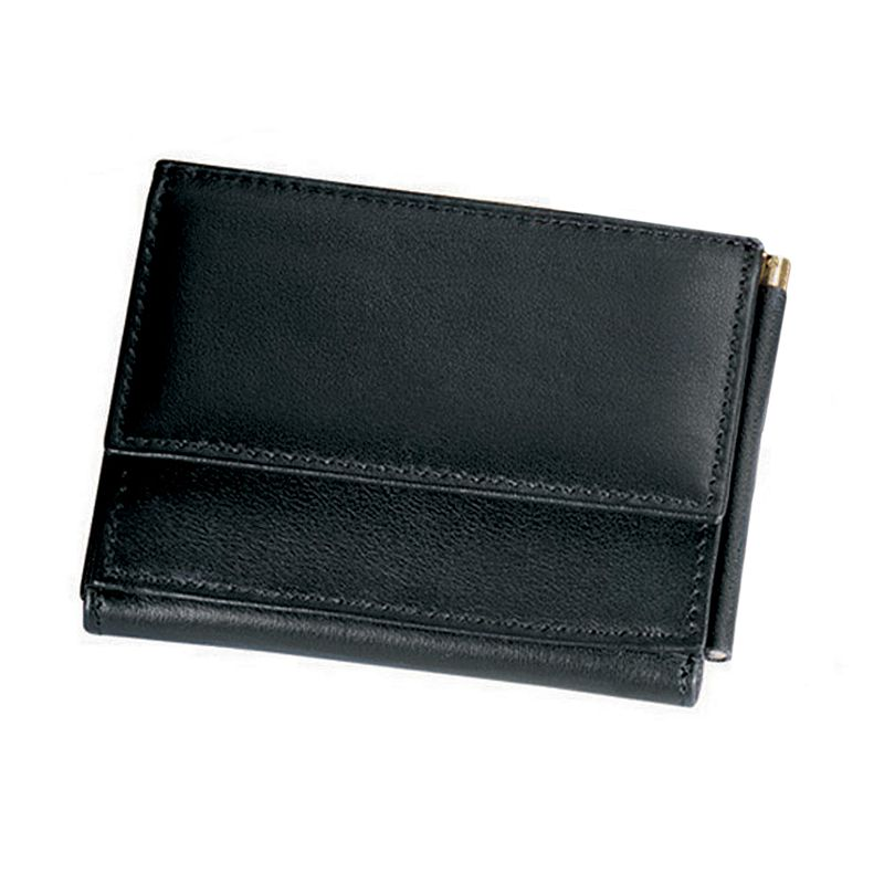 Royce Leather Money Clip Wallet, Black