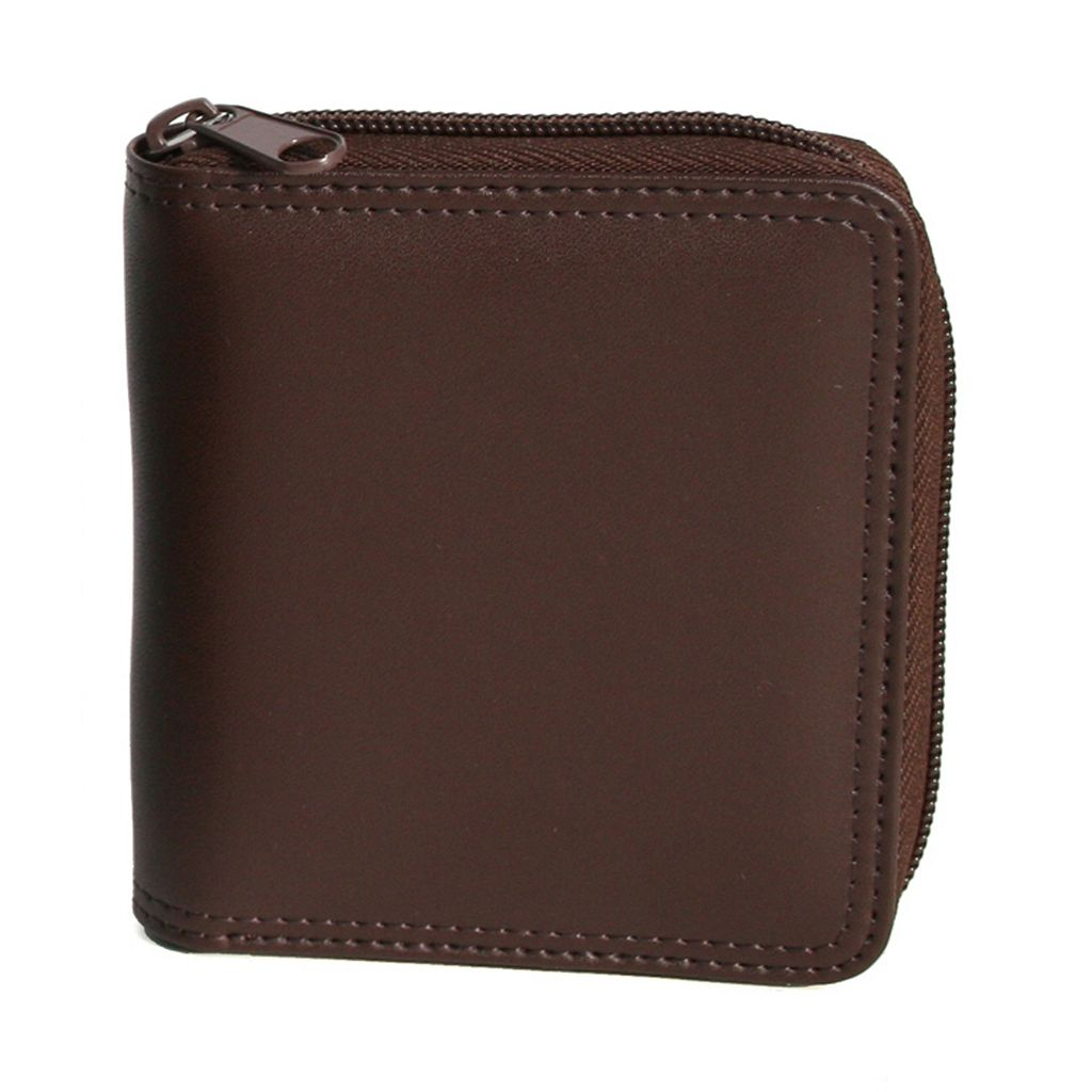 Royce Leather Zip-Around Wallet