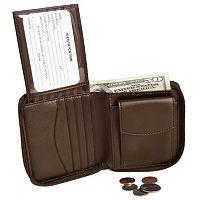 Royce Leather Zip-Around Wallet