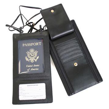 Royce Leather Security Passport Wallet