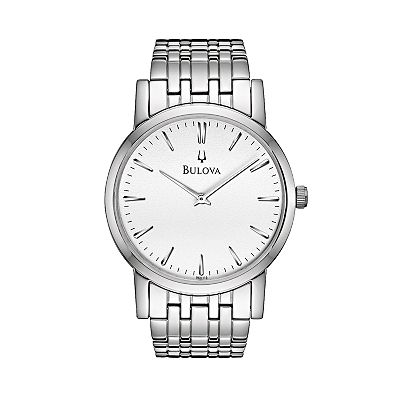 Bulova Stainless Steel Watch - Men