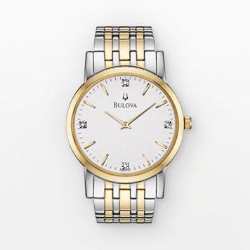Bulova Men's Diamond Two Tone Stainless Steel Watch - 98D114