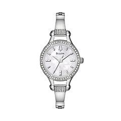 Bulova Women's Crystal Stainless Steel Watch - 96L128