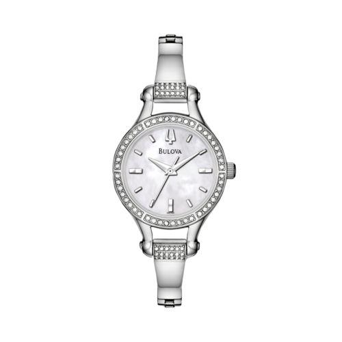 Bulova Watch - Women's Crystal Stainless Steel - 96L128