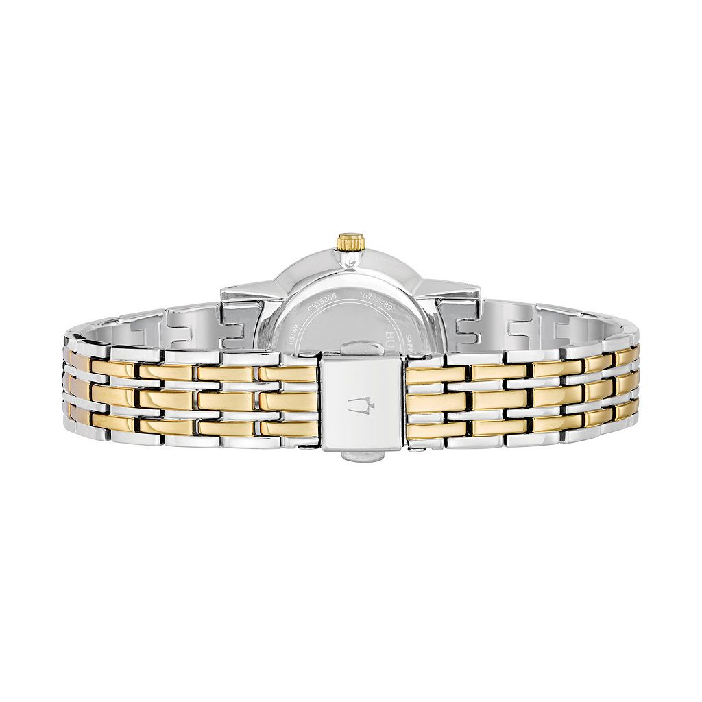 Bulova Women's Diamond Two Tone Stainless Steel Watch - 98P115