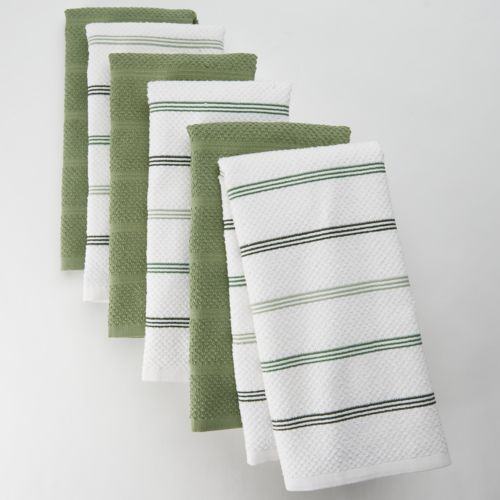 The Big One® 6-pk. Striped Kitchen Towels
