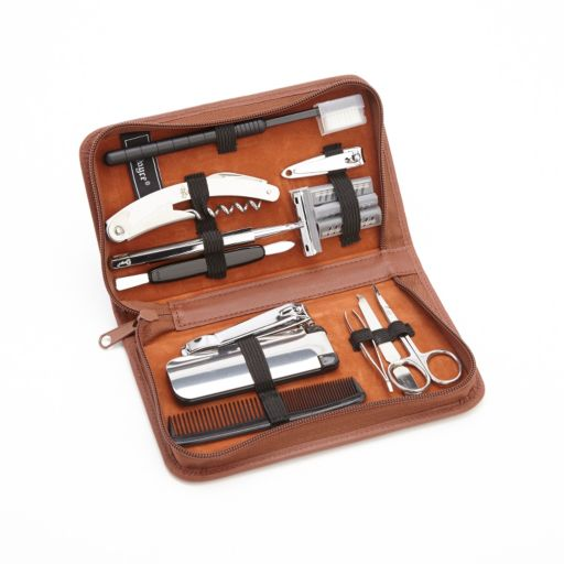 Royce Leather Executive Travel and Grooming Kit