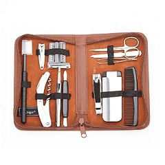 Royce Leather Executive Travel & Grooming Kit