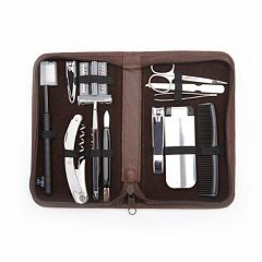 Royce Leather Travel & Grooming Kit