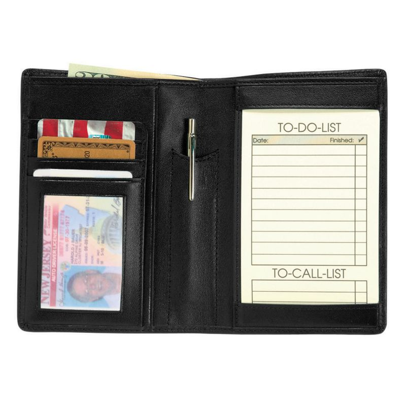 Royce Leather Passport Wallet, Adult Unisex, Black