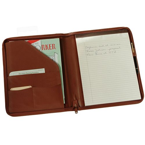 Royce Leather Zippered Padfolio