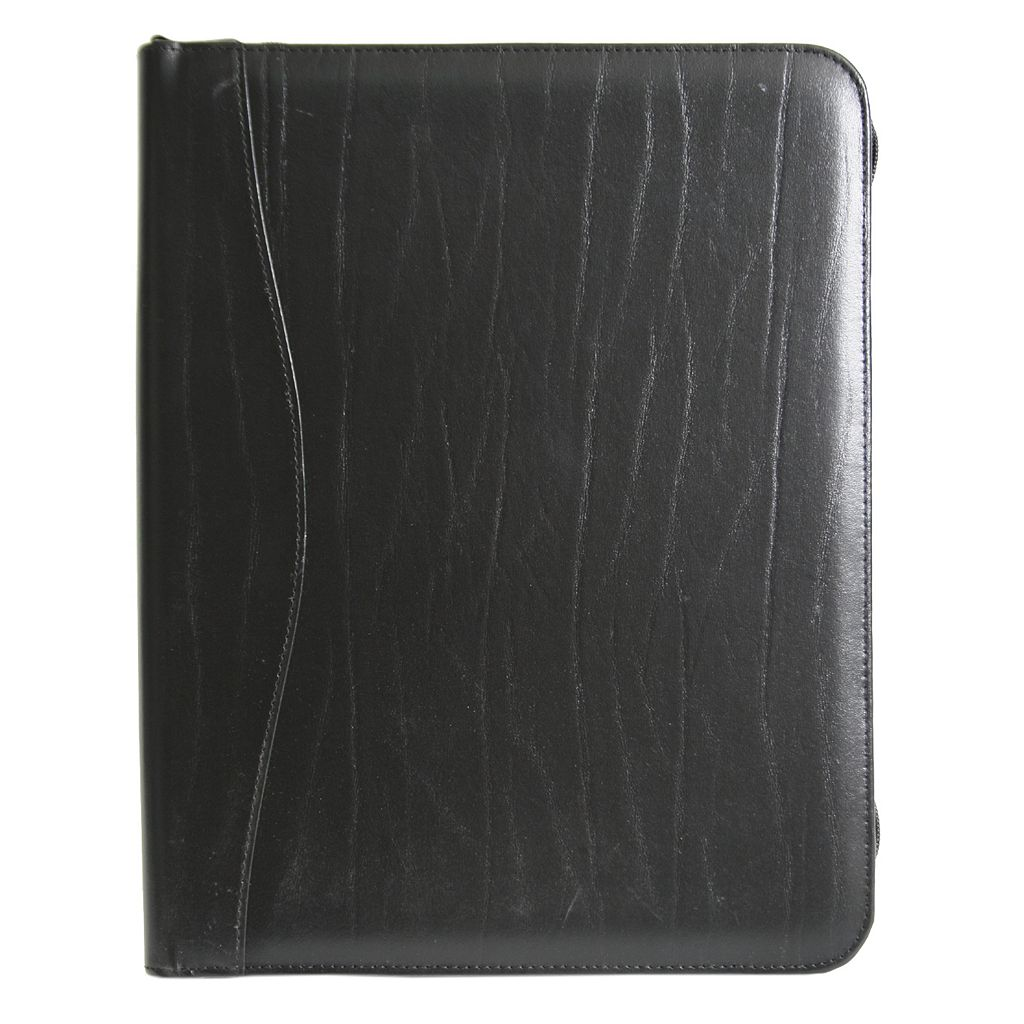 Royce Leather Zippered Convertible Padfolio