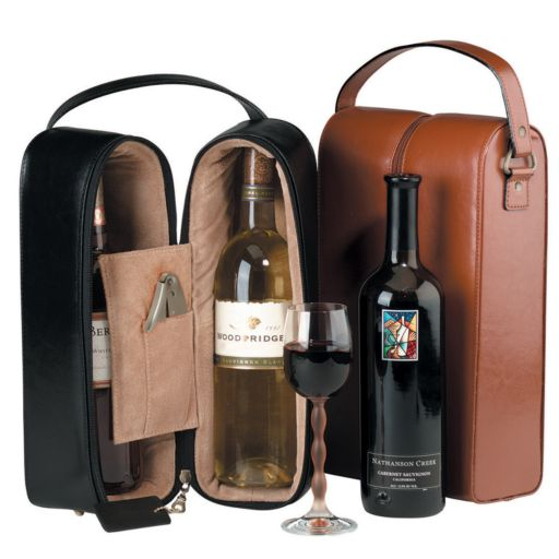 Royce Leather Double Wine Presentation Case