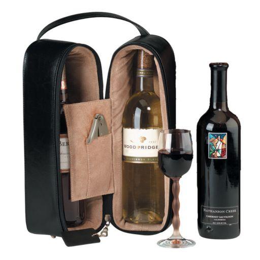 Royce Leather Double Wine Case