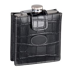 Royce Leather Crocodile 5-oz. Flask