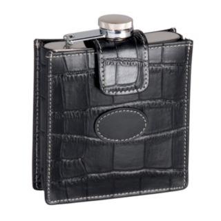 Royce Leather Crocodile 5-oz. Flask