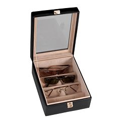 Royce Leather 4-Slot Eyeglass Box