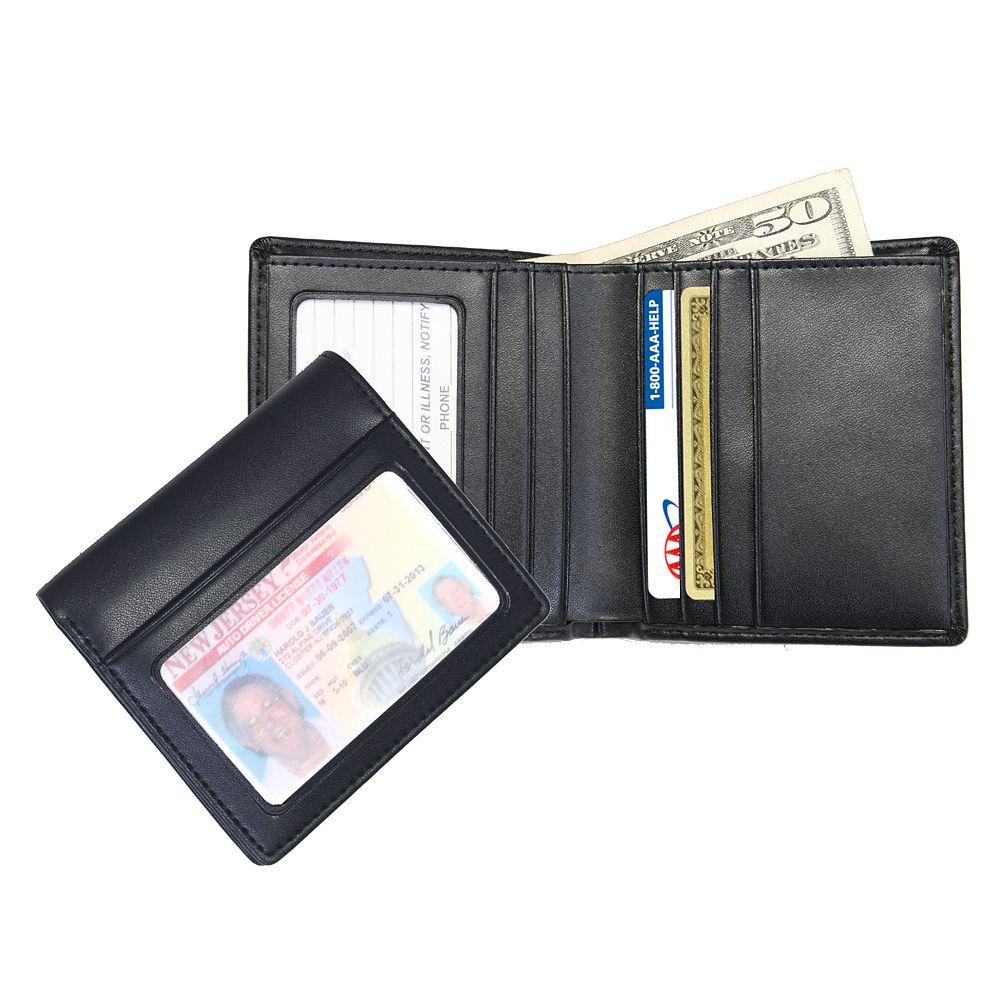 Royce Leather Double ID Bifold Wallet