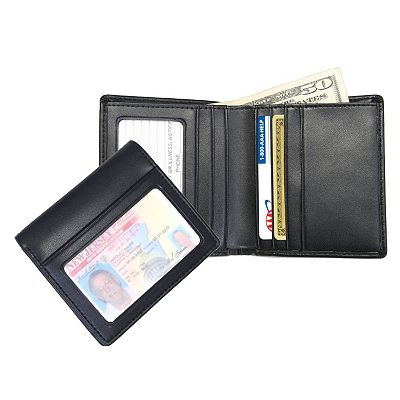 Royce Leather Double ID Bifold Wallet