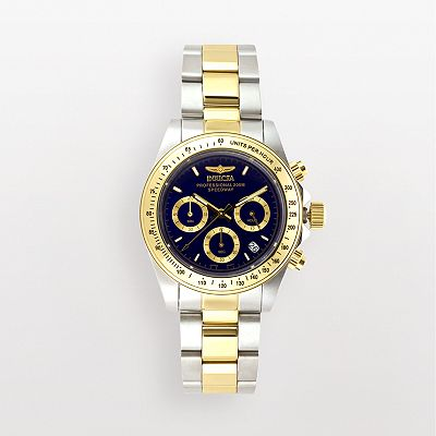 Invicta Speedway 18k Gold Over Stainless Steel and Stainless Steel Chronograph Watch - 3644 - Men