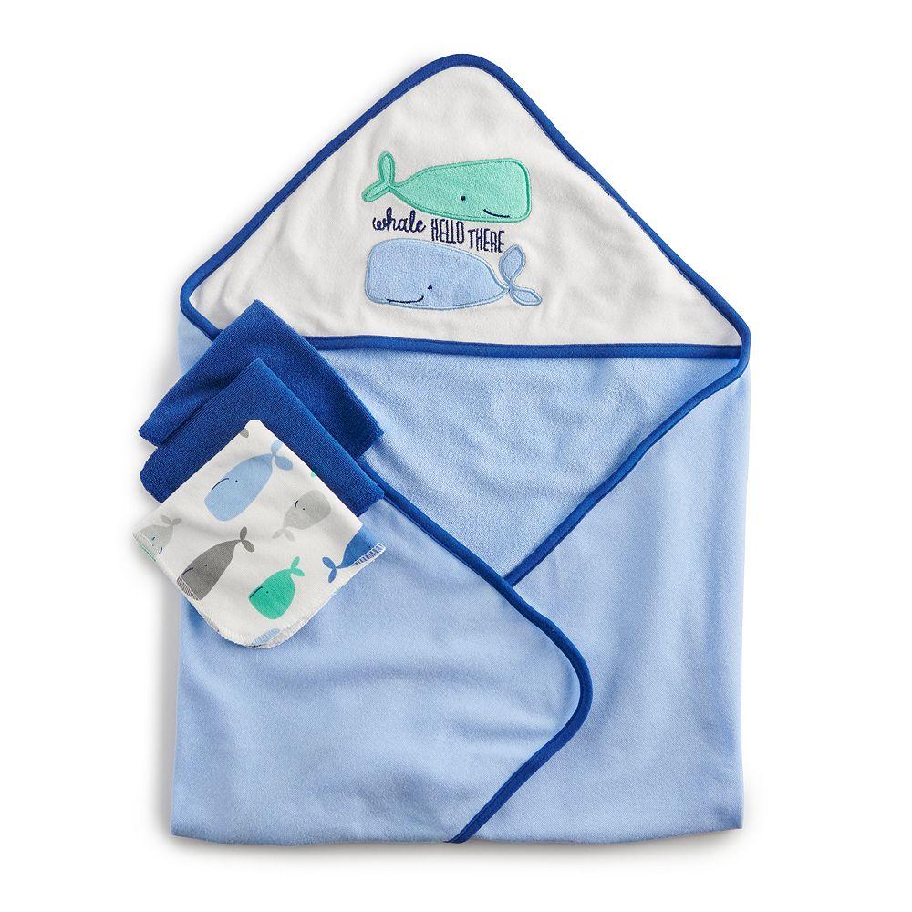 Just Born Hooded Towel & Washcloth Set